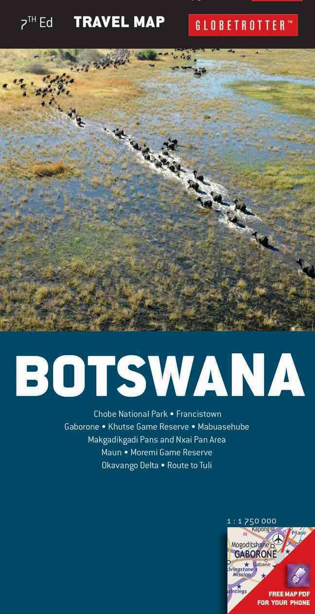 Botswana Travel Map By Globetrotter